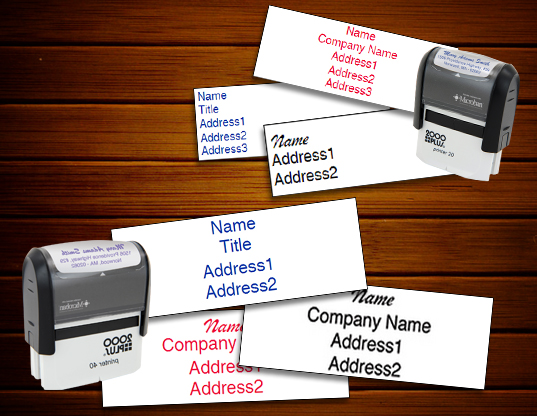 Keller Williams Return Address Rubber Stamps