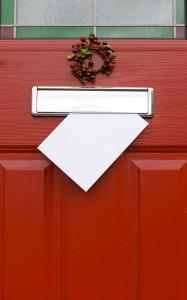 Red Front Door, Christmas, Post.