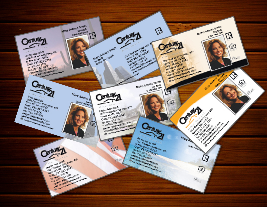 Real estate business cards can be immediately striking when done real estate business cards colourmoves