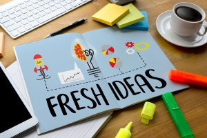 FRESH IDEAS Ideas Design Innovation think Objective Strategy NEW FRESH IDEAS Innovative Ideas / Business innovation concept FRESH IDEAS