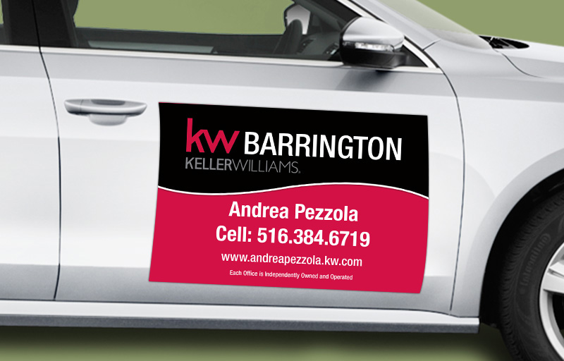 Keller Williams Real Estate 12 x 18 without Photo Car Magnets - KW approved vendor custom car magnets for realtors | BestPrintBuy.com