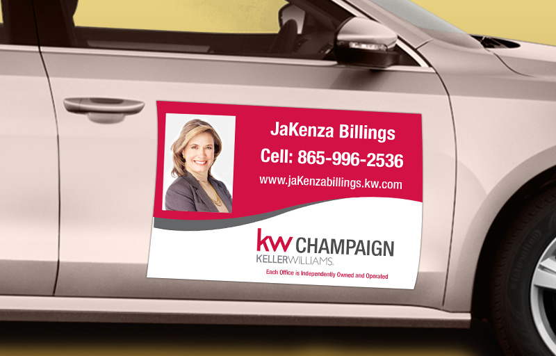 Keller Williams Real Estate 12 x 18 with Photo Car Magnets - KW approved vendor custom car magnets for realtors | BestPrintBuy.com