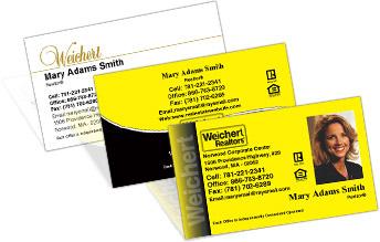 Weichert business cards colourmoves