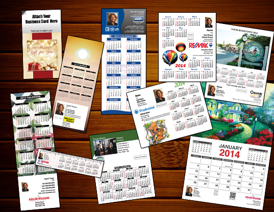 magnetic calendars help real estate clients remember you with