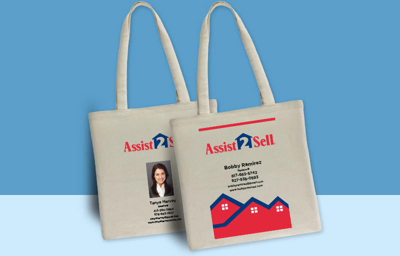 Assit2Sell Real Estate Tote Bags - Assit2Sell Real Estate personalized promotional products | BestPrintBuy.com