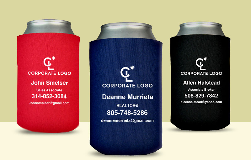 Coldwell Banker Real Estate Economy Can Coolers - Coldwell Banker personalized promotional products | BestPrintBuy.com