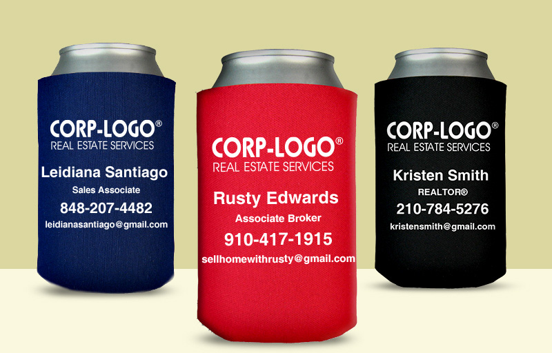 Crye-Leike Realtors Real Estate Economy Can Coolers - Crye-Leike Realtors personalized promotional products | BestPrintBuy.com