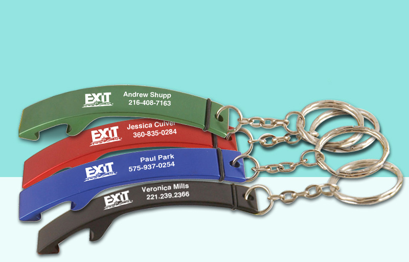 Exit Realty Real Estate Bottle Opener - Exit Realty approved vendor personalized promotional products | BestPrintBuy.com