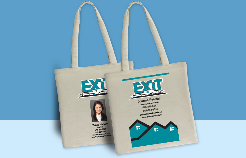 Exit Realty Real Estate Tote Bags - Exit Realty approved vendor personalized promotional products | BestPrintBuy.com