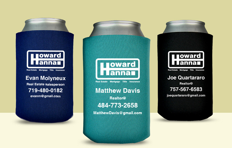 Howard Hanna Real Estate Economy Can Coolers - Howard Hanna personalized promotional products | BestPrintBuy.com