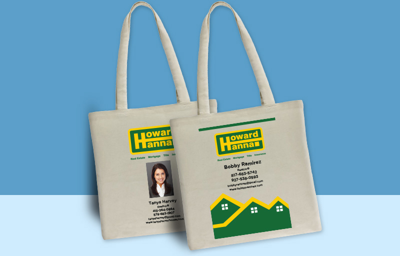 Howard Hanna Real Estate Tote Bags - Howard Hanna personalized promotional products | BestPrintBuy.com