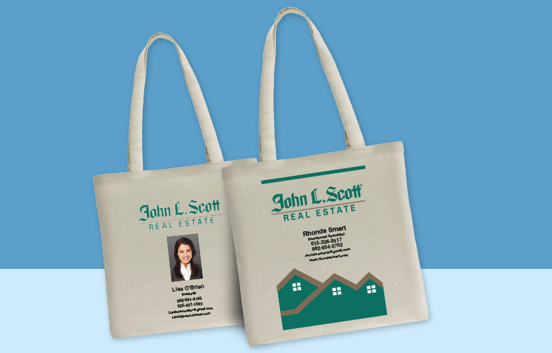 John L. Scott Real Estate Tote Bags - John L. Scott Real Estate personalized promotional products | BestPrintBuy.com