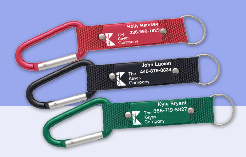 The Keyes Company Real Estate Carabiner - The Keyes Company  personalized promotional products | BestPrintBuy.com