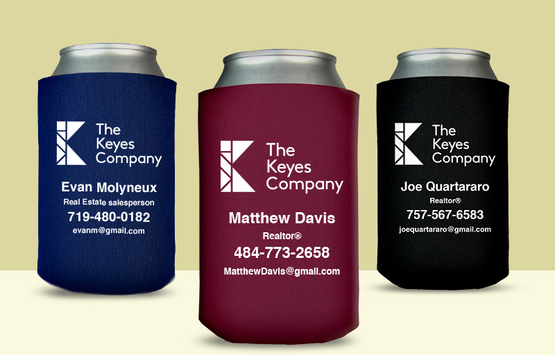 The Keyes Company Real Estate Economy Can Coolers - The Keyes Company personalized promotional products | BestPrintBuy.com