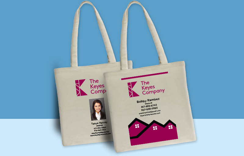 The Keyes Company Real Estate Tote Bags - The Keyes Company personalized promotional products | BestPrintBuy.com