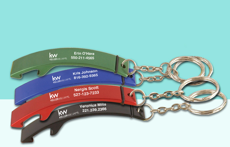 Keller Williams Real Estate Bottle Opener - KW approved vendor personalized promotional products | BestPrintBuy.com