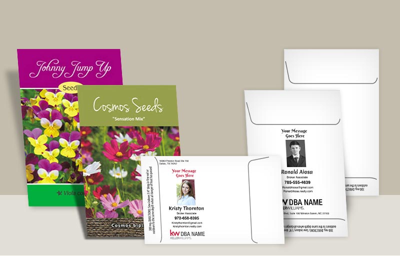 Keller Williams Real Estate Seed Packets - KW approved vendor personalized promotional products | BestPrintBuy.com
