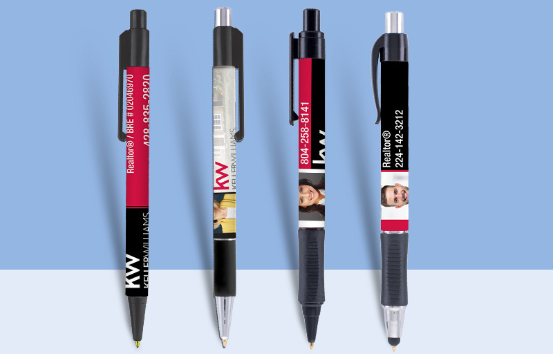 Keller Williams Real Estate Pens - KW approved vendor personalized promotional products | BestPrintBuy.com