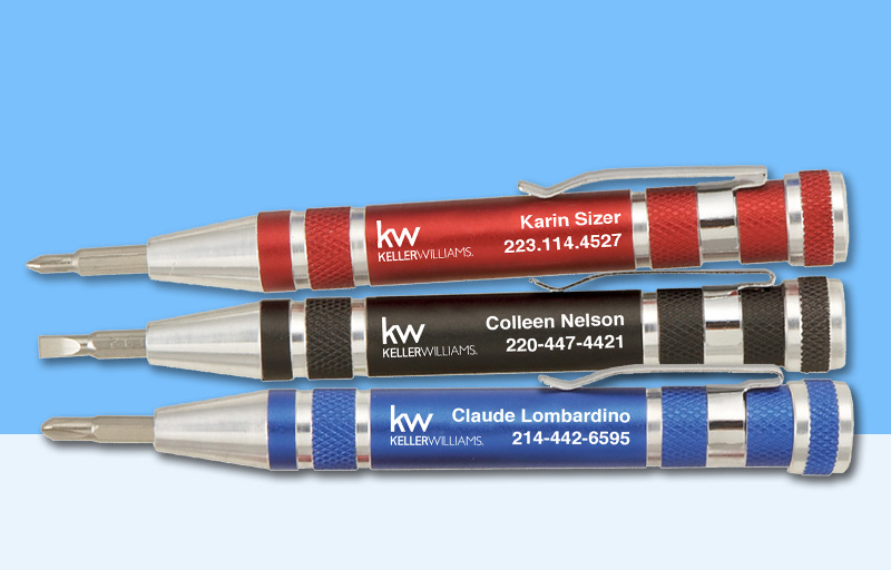 Keller Williams Real Estate Screwdrivers - KW approved vendor personalized promotional products | BestPrintBuy.com