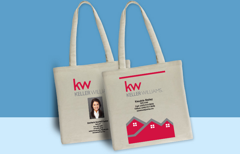 Keller Williams Real Estate Tote Bags - KW approved vendor personalized promotional products | BestPrintBuy.com