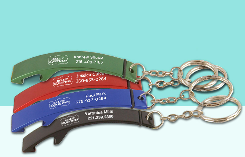 Realty Executives Real Estate Bottle Opener - Realty Executives personalized promotional products | BestPrintBuy.com
