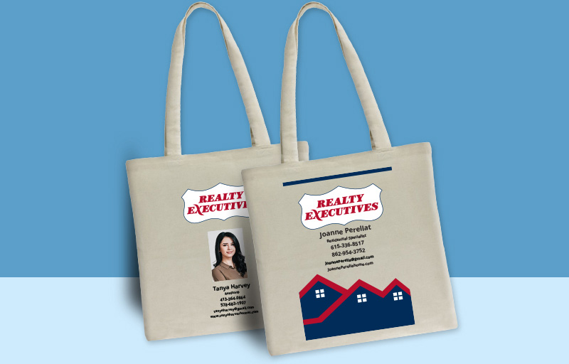 Realty Executives Real Estate Tote Bags - Realty Executives personalized promotional products | BestPrintBuy.com