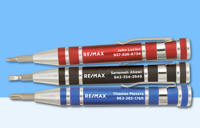 RE/MAX Real Estate Screwdrivers - RE/MAX personalized promotional products | BestPrintBuy.com