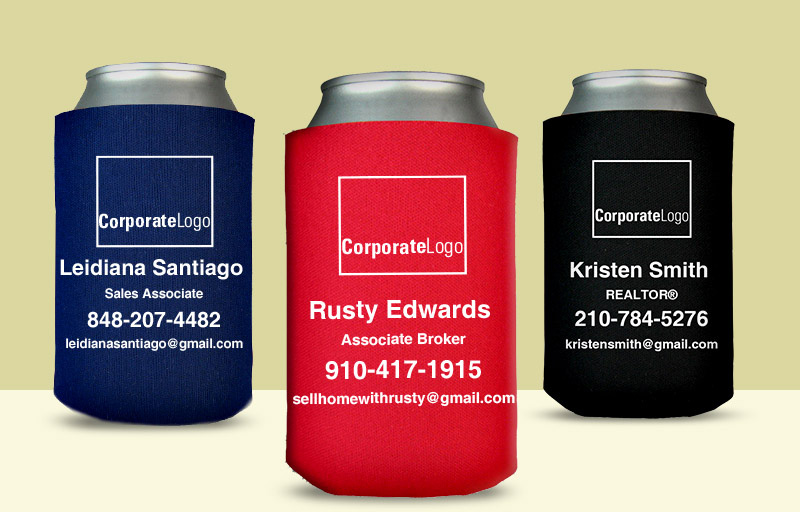 Real Living Real Estate Economy Can Coolers - Real Living Real Estate personalized promotional products | BestPrintBuy.com