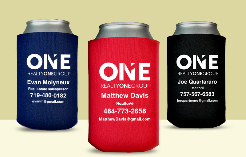 Realty One Group Real Estate Economy Can Coolers - Realty One Group personalized promotional products | BestPrintBuy.com