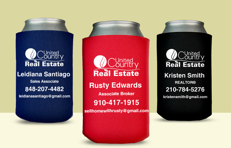 United Country Real Estate Economy Can Coolers - United Country Real Estate personalized promotional products | BestPrintBuy.com