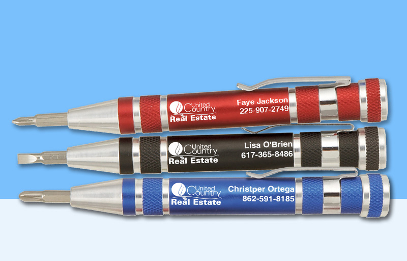 United Country Real Estate Screwdrivers - United Country Real Estate personalized promotional products | BestPrintBuy.com