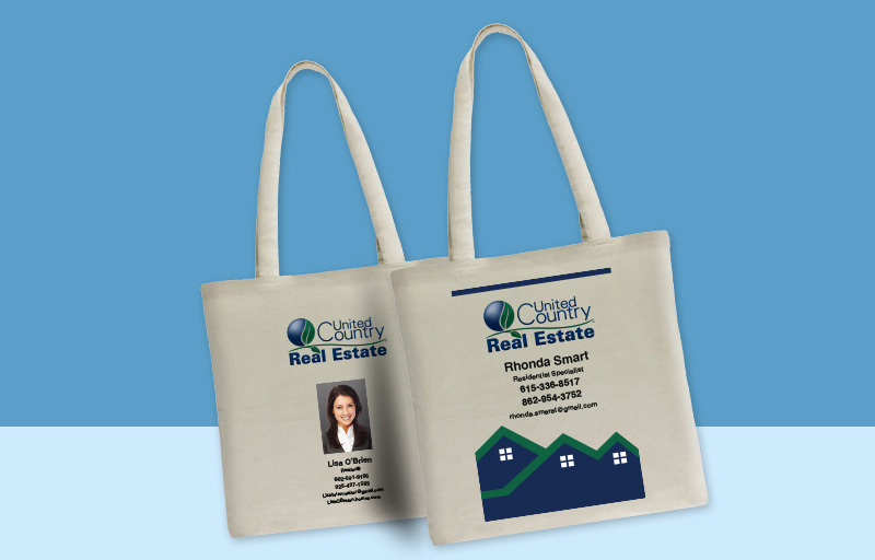 United Country Real Estate Tote Bags - United Country Real Estate personalized promotional products | BestPrintBuy.com