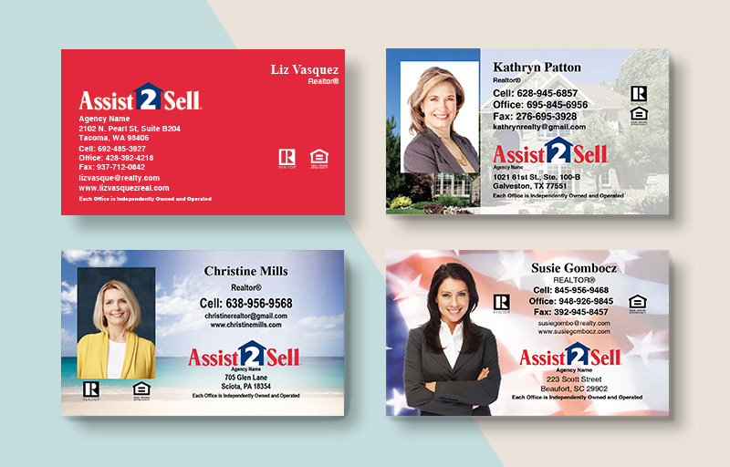 Assit2Sell Real Estate Business Card Magnets - Assit2Sell Real Estate  magnets with photo and contact info | BestPrintBuy.com