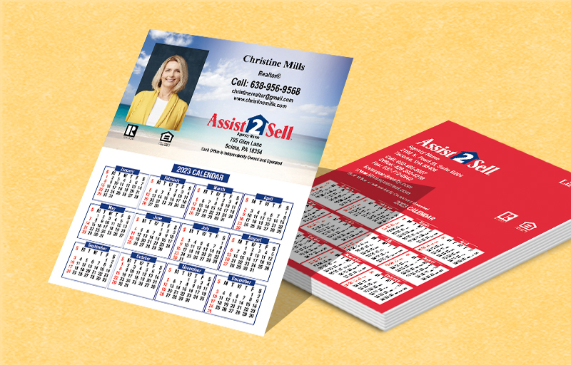 Assist2Sell Real Estate Mini Business Card Calendar Magnets - Assist2Sell Real Estate  2019 calendars | BestPrintBuy.com