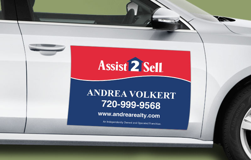 Assit2Sell Real Estate 12 x 18 without Photo Car Magnets - Assit2Sell Real Estate  custom car magnets for realtors | BestPrintBuy.com