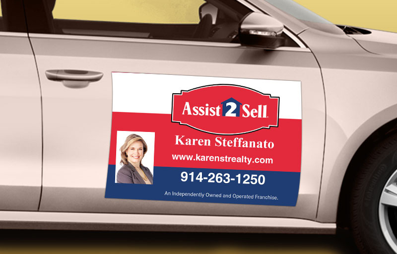 Assit2Sell Real Estate 12 x 18 with Photo Car Magnets - Assit2Sell Real Estate custom car magnets for realtors | BestPrintBuy.com
