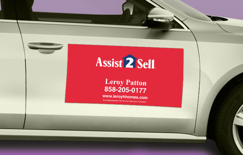 Assit2Sell Real Estate 12 x 24 without Photo Car Magnets - Assit2Sell Real Estate custom car magnets for realtors | BestPrintBuy.com