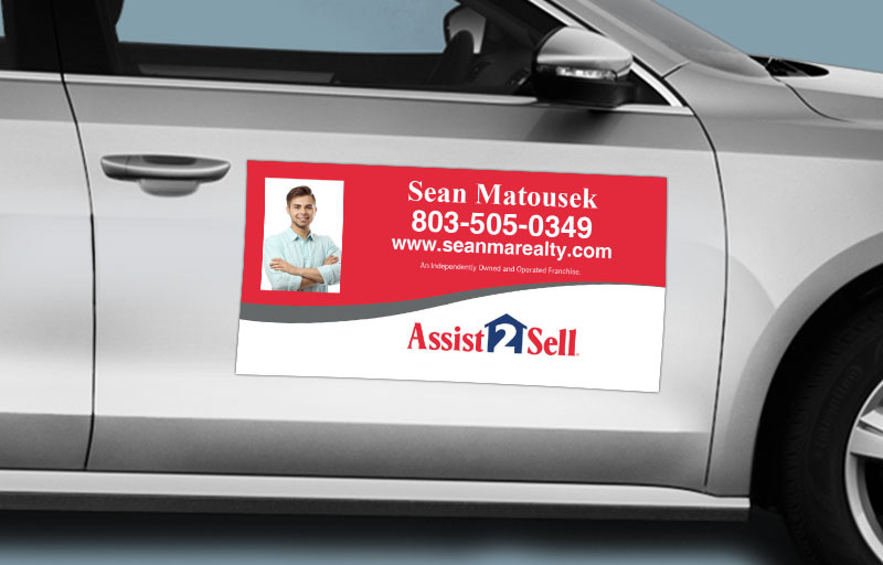 Assit2Sell Real Estate 12 x 24 with Photo Car Magnets - Assit2Sell Real Estate  custom car magnets for realtors | BestPrintBuy.com