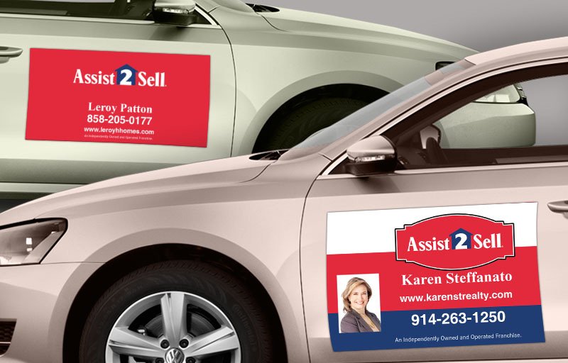 Assit2Sell Real Estate Car Magnets - Assit2Sell Real Estate car door magnets | BestPrintBuy.com