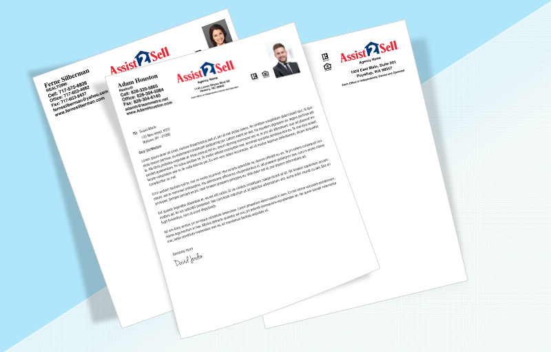 Assit2Sell Real Estate Letterheads - Assit2Sell Real Estate Custom Letterhead Stationery for Realtors | BestPrintBuy.com