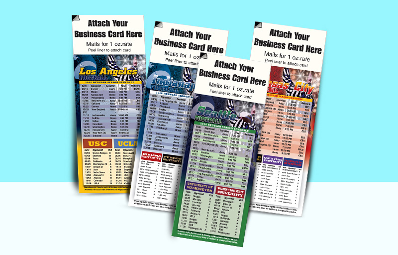 Assist2Sell Real Estate Magnetic Football Schedule (Peel 'N Stick Business Card) - Assist2Sell Real Estate personalized magnetic football schedules | BestPrintBuy.com