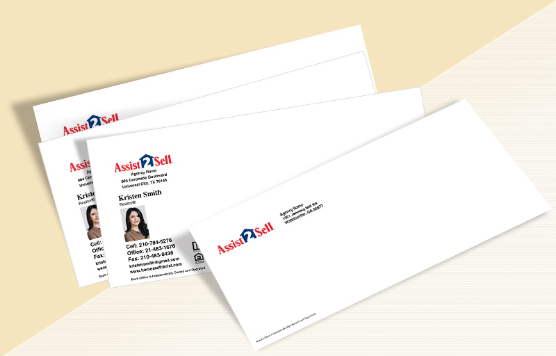 Assit2Sell Real Estate #10 Envelopes - Assit2Sell Real Estate Custom #10 Envelopes Stationery for Realtors | BestPrintBuy.com