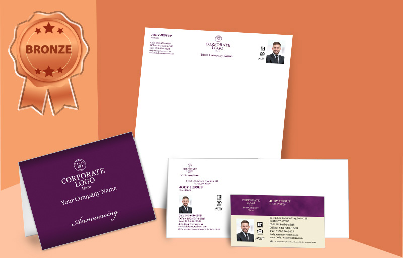 Berkshire Hathaway Real Estate Agent Bronze Package - Berkshire Hathaway personalized business cards, letterhead, envelopes and note cards | BestPrintBuy.com