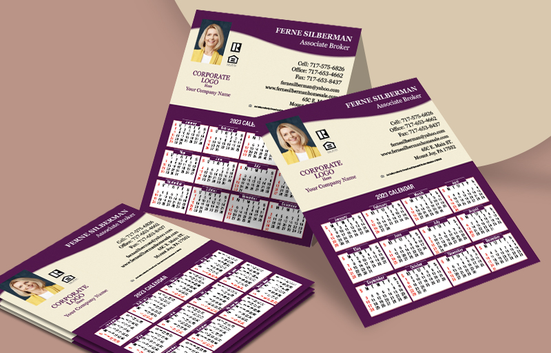 Berkshire Hathaway Real Estate Mini Business Card Calendar Magnets
