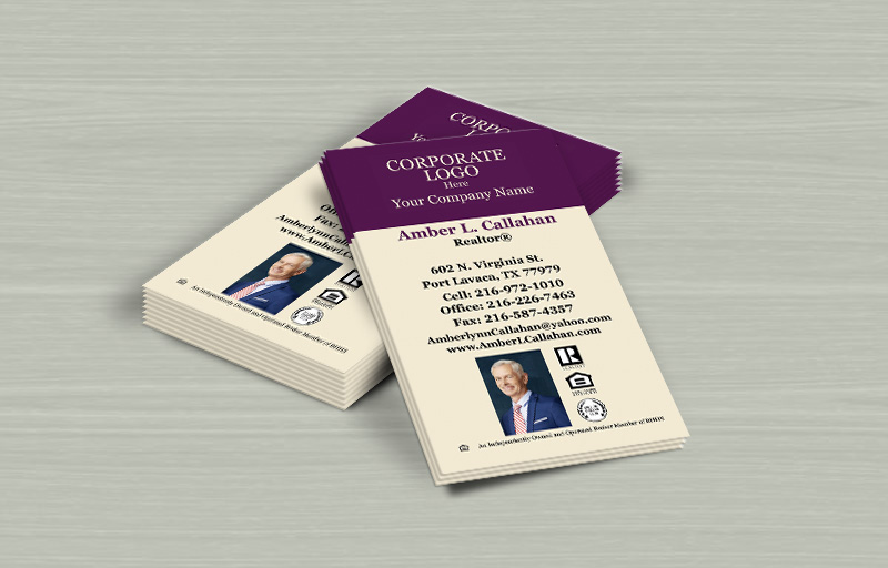 Berkshire Hathaway Real Estate Vertical Business Card Magnets - Berkshire Hathaway  personalized marketing materials | BestPrintBuy.com