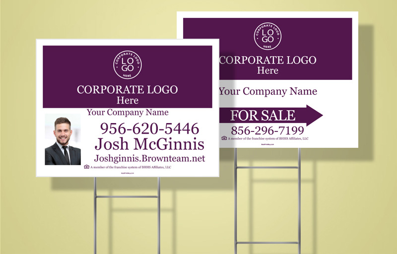 6x24-4 mm corrugated board Berkshire Hathaway fun sign riders two sided set of THREE signs