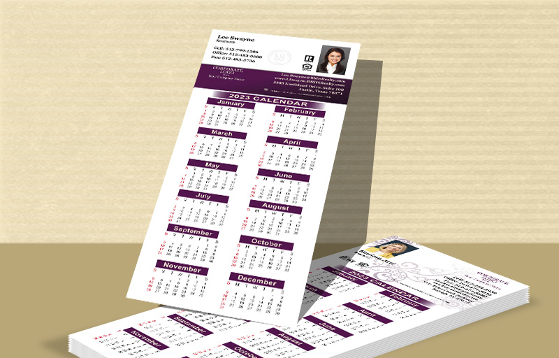 "Berkshire Hathaway Real Estate Business Card Calendar Magnets - Berkshire Hathaway  2019 calendars with photo and contact info, 3.5"" x 8.5"" 