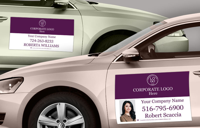Berkshire Hathaway Real Estate Car Magnets - Berkshire Hathaway car door magnets | BestPrintBuy.com
