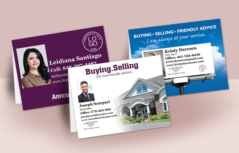 Berkshire Hathaway Real Estate Personalized Folded Note Cards - Berkshire Hathaway stationery | BestPrintBuy.com