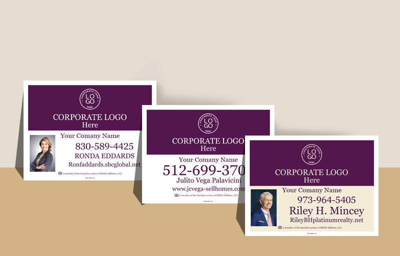 Berkshire Hathaway Real Estate Sign Riders - Berkshire Hathaway real estate signs | BestPrintBuy.com